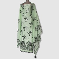 Cotton Screen Printed Salwar Kameez for Women  color Army-Green