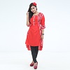 Exclusive Embroidery Kurti For Stylish Women one pc color Red