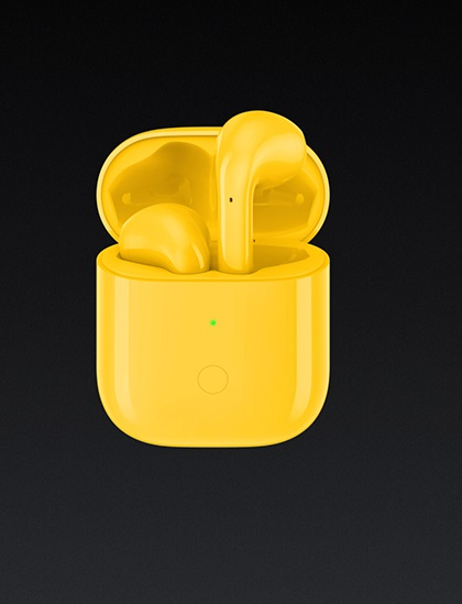 Realme Buds Air TWS Wireless Multitouch Function in Low Price color Yellow