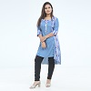 Exclusive Embroidery Kurti For Stylish Women one pc color Light-Blue