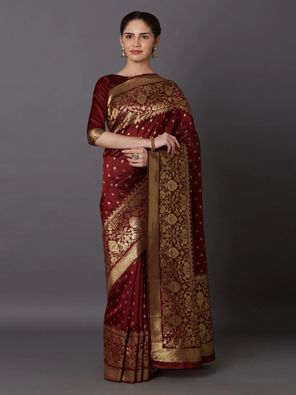 Latest & Exclusive Luxury Stylish Glorious Design saree with gorgeous Blouse Piece for woman